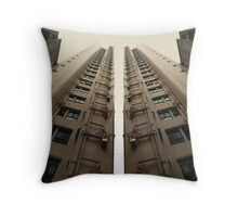 Hong Kong Apartments with sweeping angle Throw Pillow