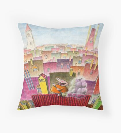 Salfon the Roofcleaner Throw Pillow
