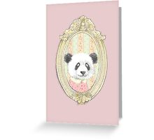 PRETTY PANDA Greeting Card