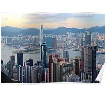HK Panorama at Sunset II - Hong Kong. Poster
