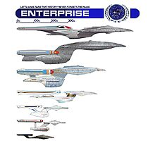 U.S.S. Enterprise Lineage Photographic Print
