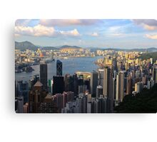 HK Panorama at Sunset III - Hong Kong. Canvas Print