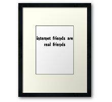 internet friends 2 Framed Print