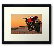 Red 2006 Suzuki GSX-R 1000 Framed Print