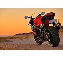 Red 2006 Suzuki GSX-R 1000 Photographic Print