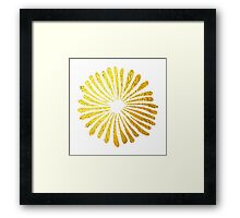 Gold Daisies Framed Print
