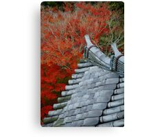 Roof over the red forest Canvas Print