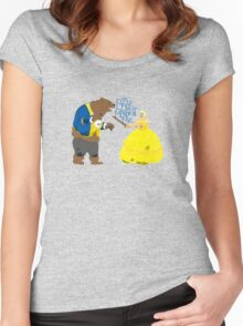 Brienne and the Bear Women's Fitted Scoop T-Shirt