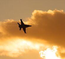 Sunset flyby by David Burren