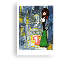 Miss Maggy and the wip Canvas Print