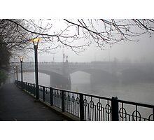 Foggy Princes Bridge Photographic Print