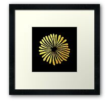 Black gold daisies Framed Print