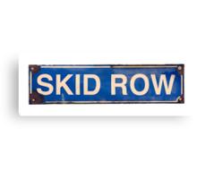 Isolated Skid Row Street Sign Canvas Print