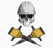 Skull and Jackhammers by dxf1969