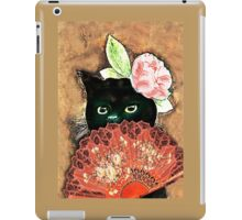 The Fan Cat Art iPad Case/Skin