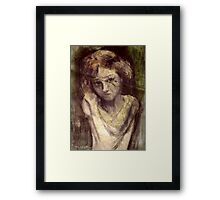 The Child Orpheus Framed Print