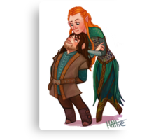 Kili and Tauriel Canvas Print