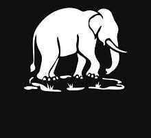 White Asian Elephants Ahead / Thai Elephant Trekking Traffic Sign Unisex T-Shirt