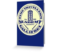 TIME TRAVELLERS ACADEMY  Greeting Card