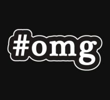 OMG - Hashtag - Black & White by graphix