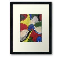 """Exuberance"" original abstract artwork by Laura Tozer Framed Print"