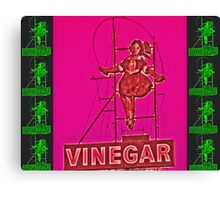 Skipping Girl - Neon Nights 1 Canvas Print