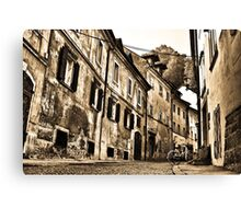 Old Street in Ljubljana Canvas Print