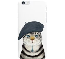 Charming French Cat  iPhone Case/Skin
