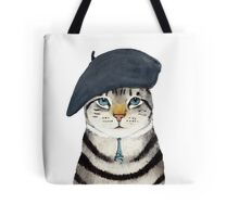 Charming French Cat  Tote Bag