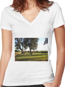 Ricketts Point  -  Beaumaris  -  Victoria  -  Australia Women's Fitted V-Neck T-Shirt