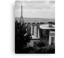 Rooftop View - Paris Canvas Print