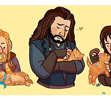 The Durins and the Kitten by HattieHedgehog