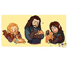 The Durins and the Kitten Photographic Print