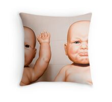 Baby Bath Time Throw Pillow
