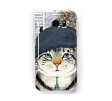 Charming French Cat in Paris. Perfect for cat lovers. Samsung Galaxy Case/Skin