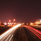 Light trails from highway again by niq702
