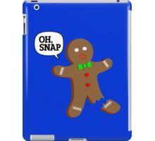 Oh, Snap Gingerbread Man, Funny Christmas Gift iPad Case/Skin