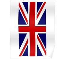 British, Union Jack Flag, 1;2 UK, Blighty, United Kingdom, Portrait, Pure & simple  Poster