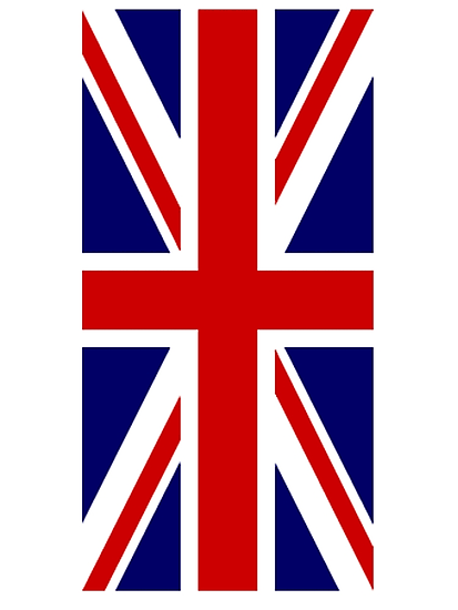 British, Union Jack Flag, 1;2 UK, Blighty, United Kingdom, Portrait, Pure & simple  by TOM HILL - Designer