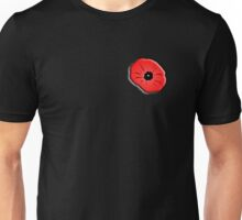 Poppy, Remembrance Day, Armistice Day, War, Soldier, on Black Unisex T-Shirt