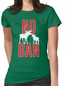 No Moose-Lamb Ban Womens Fitted T-Shirt