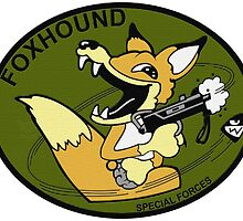 FOXHOUND Special Forces Group Classic Logo Metal Gear Solid by semackj