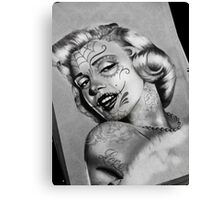 Day of the dead Monroe Canvas Print