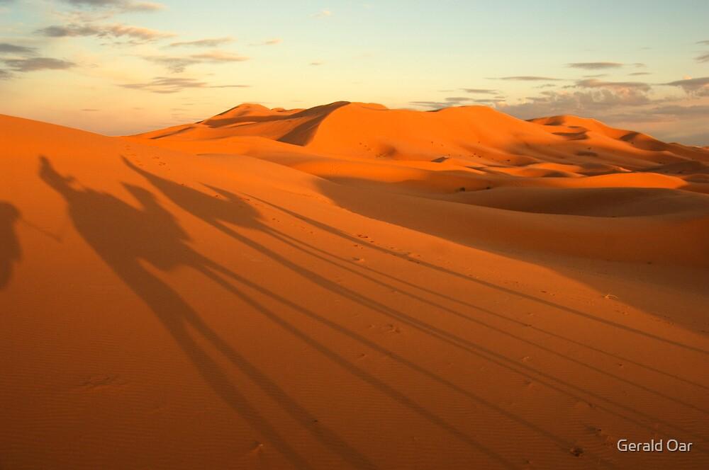 Sahdows on the Sahara by Gerald Oar