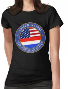 America First The Netherlands Second Womens Fitted T-Shirt