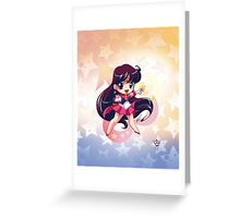 Chibi Super Sailor Mars Greeting Card