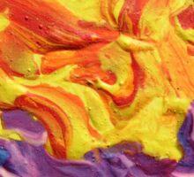 """Brightscape"" original abstract landscape by Laura Tozer Sticker"