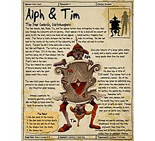 Practical Visitor's Guide to the Labyrinth - Alph and Tim Photographic Print