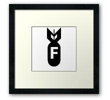 F Bomb Framed Print