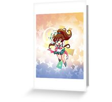 Chibi Super Sailor Jupiter Greeting Card